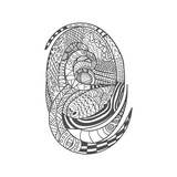 Drawing Decorative Snake Pattern