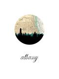 Albany Map Skyline