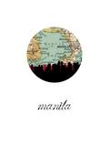Manila Map Skyline