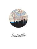 Louisville Map Skyline