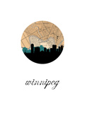 Winnipeg Map Skyline