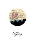 Beijing Map Skyline