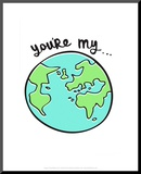 You're My World - Tommy Human Cartoon Print