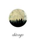 Chicago Map Skyline