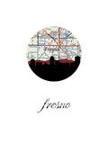 Fresno Map Skyline