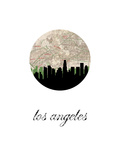 Los Angeles Map Skyline
