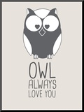 Beige Owl Always Love You