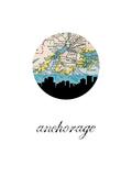 Anchorage Map Skyline