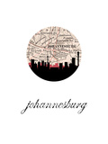 Johannesburg Map Skyline