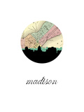 Madison Map Skyline
