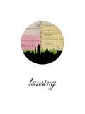 Lansing Map Skyline