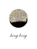 Hong Kong Map Skyline