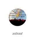 Miami Map Skyline