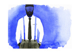 Fashion Illustration Young Man Abstract Watercolor Illustration