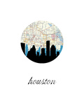 Houston Map Skyline