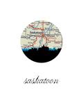 Saskatoon Map Skyline