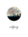 Calgary Map Skyline