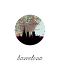 Barcelona Map Skyline
