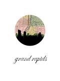 Grand Rapids Map Skyline