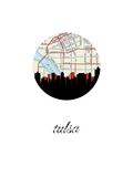 Tulsa Map Skyline