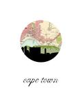 Cape Town Map Skyline