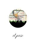 El Paso Map Skyline