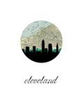 Cleveland Map Skyline