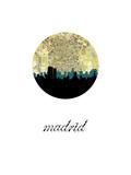 Madrid Map Skyline