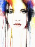 Woman Portrait Abstract Watercolor
