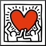 Sans titre, vers 1988 Reproduction montée par Keith Haring