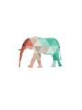 Mint Coral Elephant