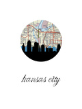 Kansas City Map Skyline