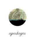 Copenhagen Map Skyline
