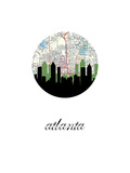 Atlanta Map Skyline