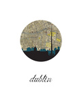 Dublin Map Skyline