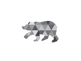 Geometric Grey Bear