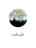 Orlando Map Skyline