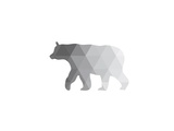 Grey Geometric Bear