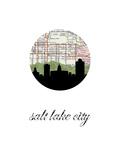 Salt Lake City Map Skyline
