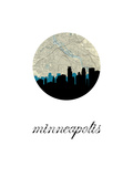 Minneapolis Map Skyline