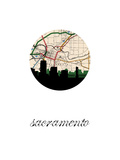 Sacramento Map Skyline
