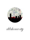 OK City Map Skyline