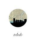 Toledo Map Skyline