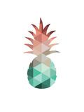 Mint Coral Pineapple Reproduction d'art par Melinda Wood