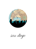 San Diego Map Skyline