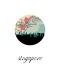 Singapore Map Skyline