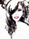 Beautiful Woman Watercolor Illustration