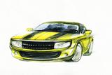 Car Art Sketch  Sport Car