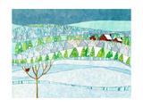 Lana's Window  Winter Landscape Hillside  Snow Season