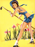 What Hoe! Gardening Pin-Up 1940